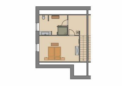 Grundriss Ferienhaus 2 & 3 Dachgeschoss
