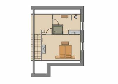 Grundriss Ferienhaus 1 & 4 Dachgeschoss