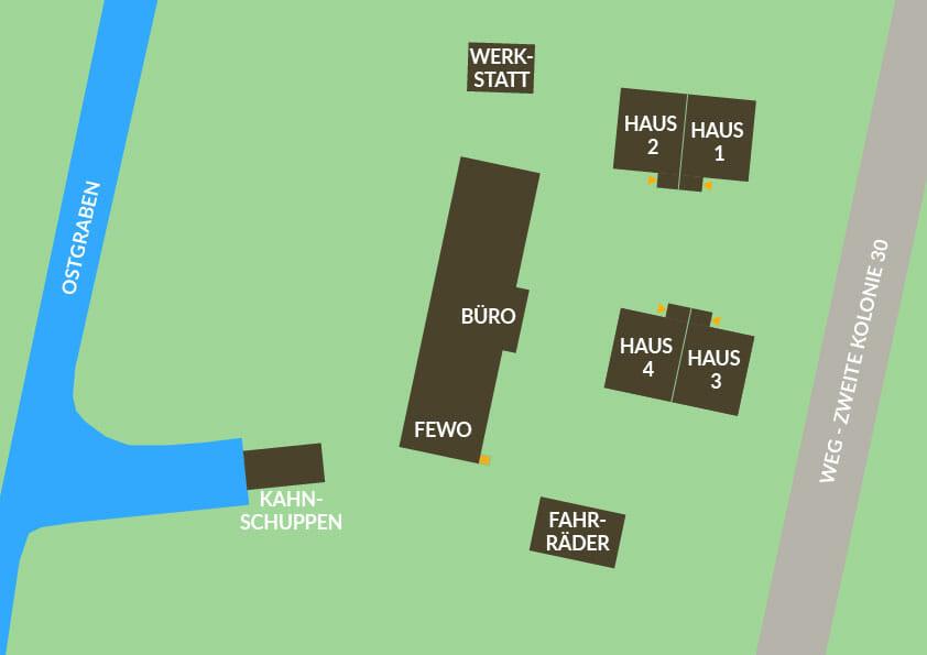 Hofstelle 133 Lageplan FEWO Ferienwohnungen- und Häuser